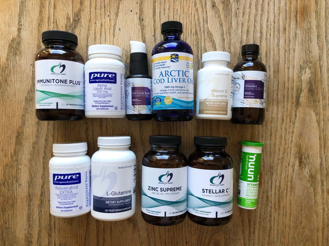 Image of supplements on table